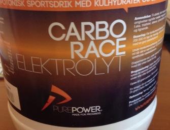 Test af energidrik PurePower Carbo Race Elektrolyt